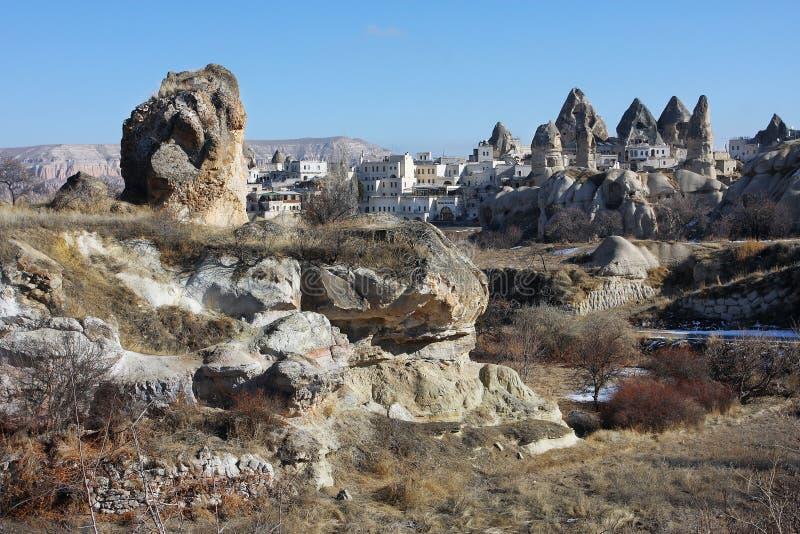 La vista della città turca Goreme fotografie stock