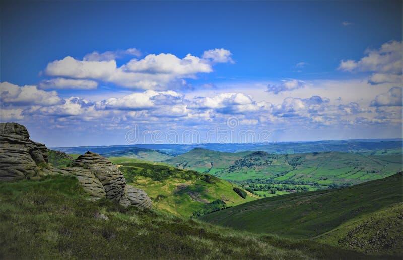 La vista della valle di speranza, nel Derbyshire alza fotografia stock