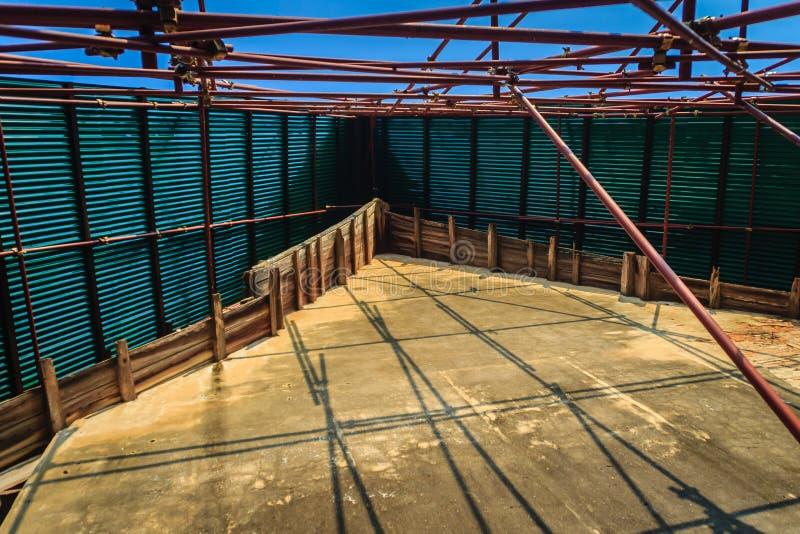 La vista di rinnova le vecchie costruzioni tradizionali del tempio Rinnovamento o immagine stock