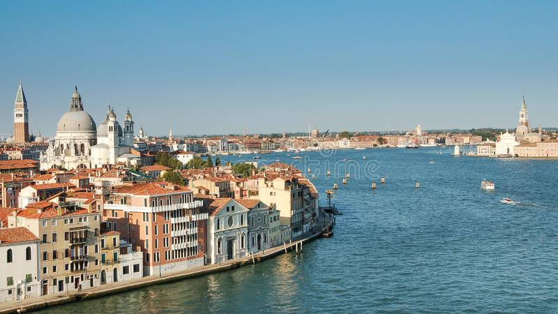 La vista di Venezia, piazza San Marco ed il palazzo dei doge a Venezia, Italia, Europa fotografia stock
