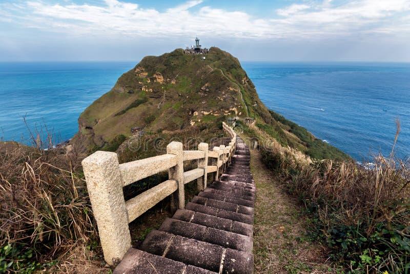 La vista impresionante del las escaleras que caminan se arrastra en Taiwán imagen de archivo libre de regalías