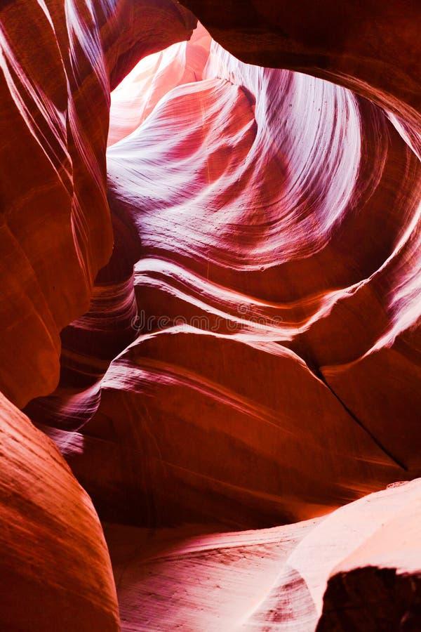 La vista interna del canyon superiore dell'antilope in america fotografie stock libere da diritti