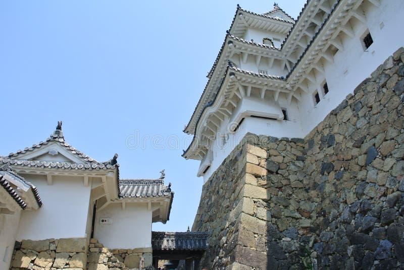 La vista nel castello di Himeji-jo nel Giappone nella prefettura di Hyogo fotografia stock libera da diritti