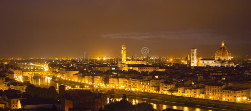 La vista panoramica sopra la città di Firenze da Michelangelo Square ha chiamato Piazzale Michelangelo immagini stock libere da diritti