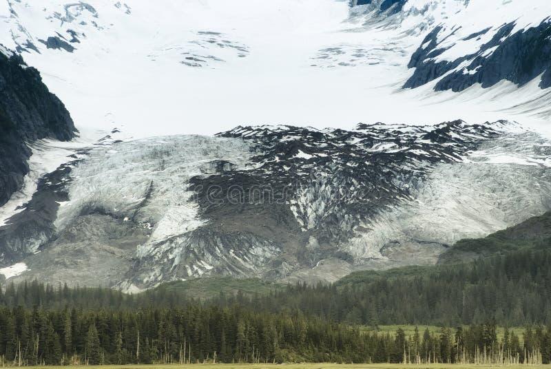 La vista scenica di grande ghiacciaio della valle nel fiordo dell'istituto universitario, principe  immagine stock libera da diritti