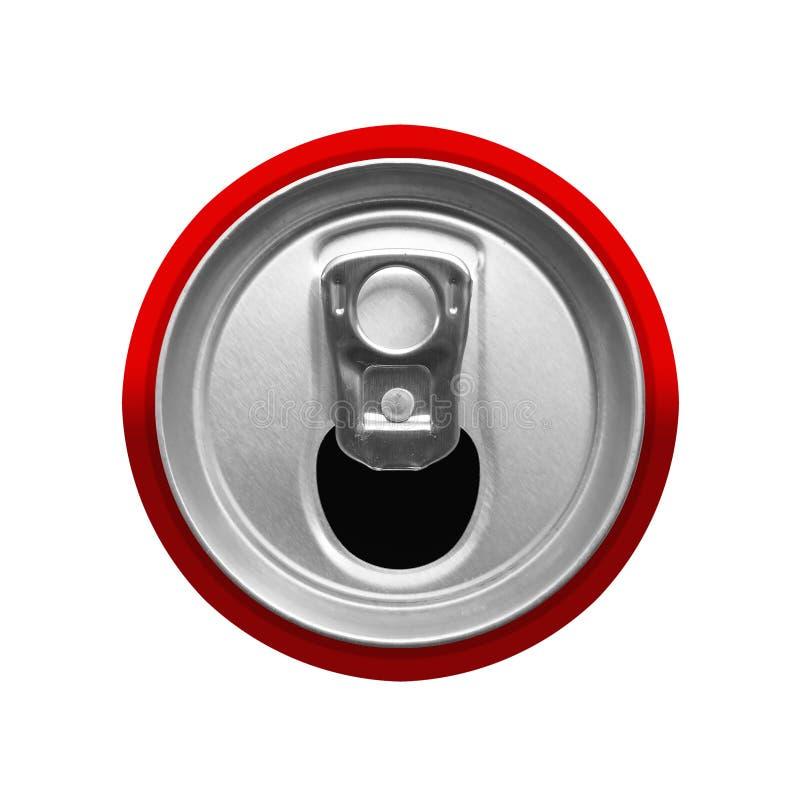 La vista superior de la bebida puede fotografía de archivo