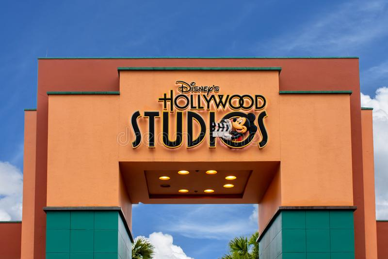La vista superiore degli studi di Disney Hollywood incurva ad area di Walt Disney World fotografia stock libera da diritti