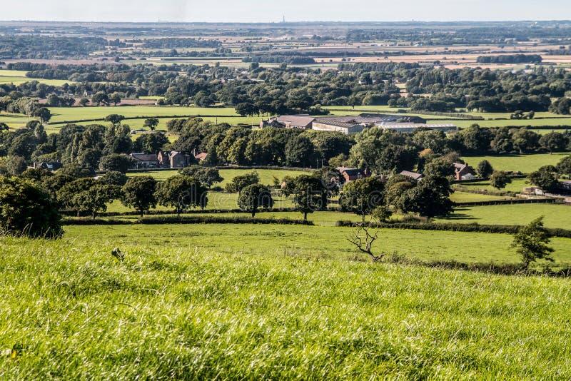La vista a la torre de Blackpool foto de archivo