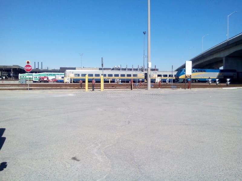 La vista a VA tránsito y vía yarda del mantenimiento de los carriles imagen de archivo