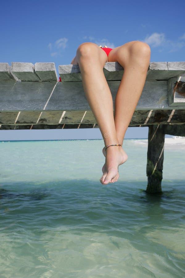 La vita è una spiaggia (molo) fotografie stock libere da diritti