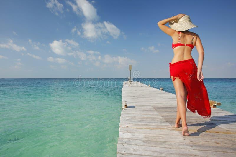 La vita è una spiaggia (molo) immagini stock libere da diritti