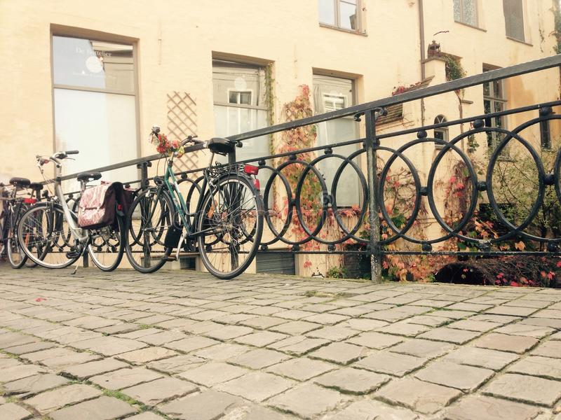 La vita della bicicletta immagine stock