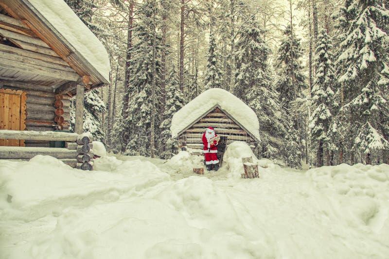 La vita quotidiana di Santa Claus fotografia stock