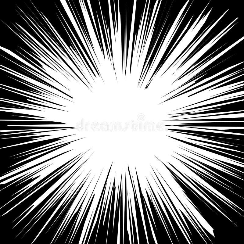 La vitesse horizontale comique abstraite raye le fond illustration de vecteur
