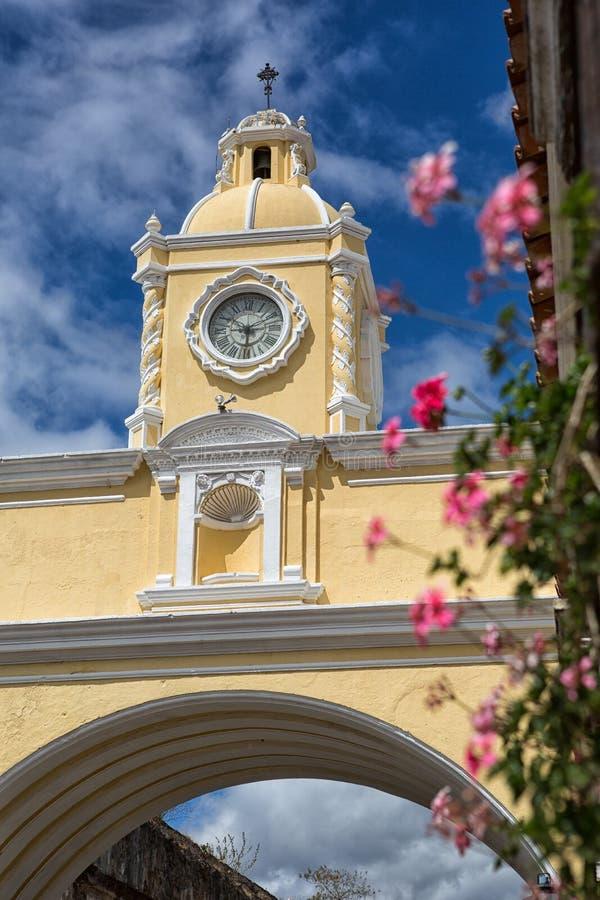 La voûte Antigua Guatemala de Santa Catalina photo stock