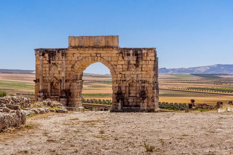 La voûte de Caracalla de Volubilis image libre de droits