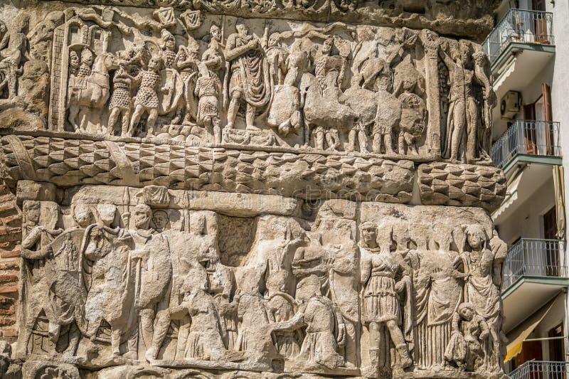 La voûte de l'empereur de Galerius à Salonique, Grèce image libre de droits