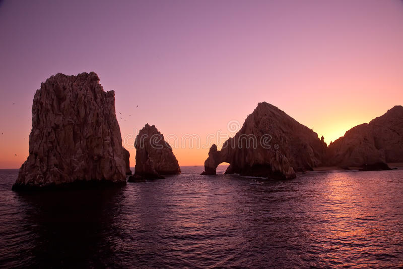 La voûte et Land's End au coucher du soleil photo libre de droits