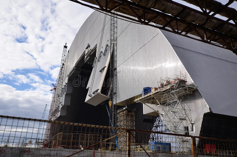 La voûte (nouvel emprisonnement sûr de Chernobyl) photographie stock
