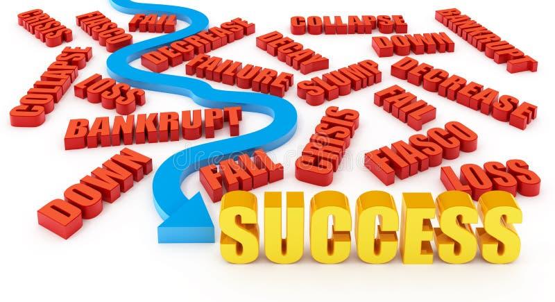 La voie à la réussite illustration de vecteur