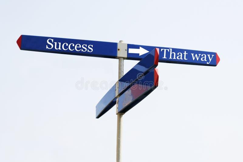 La voie à la réussite images stock