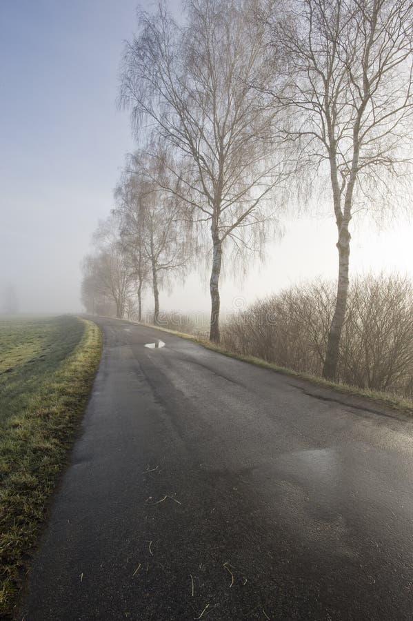 La voie à travers amarrent en automne images stock
