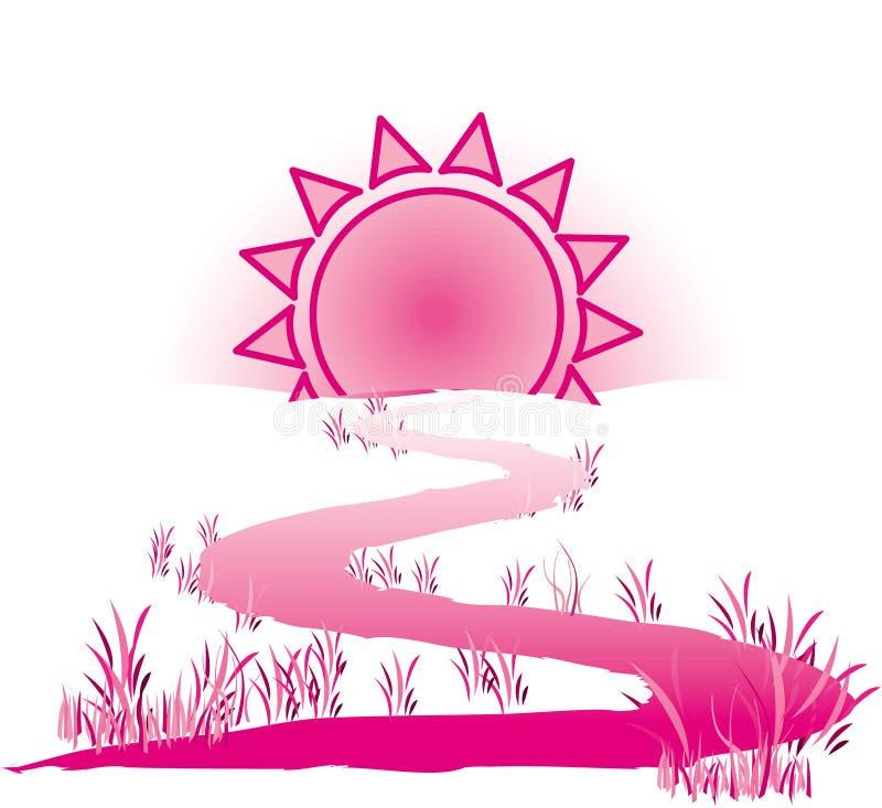 La voie au soleil illustration libre de droits