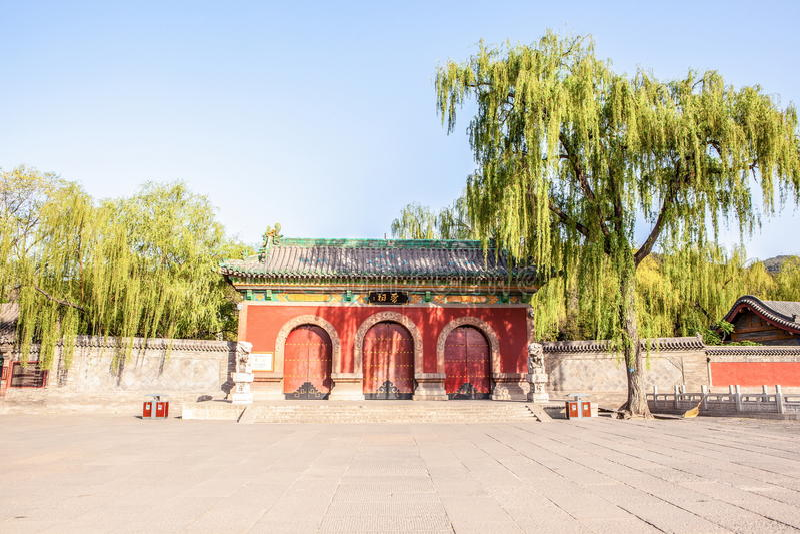 La voie de base du temple commémoratif de Jinci (musée) photo stock