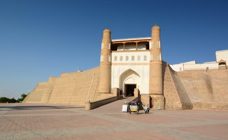 La voie de base de forteresse d'arche boukhara uzbekistan photos stock