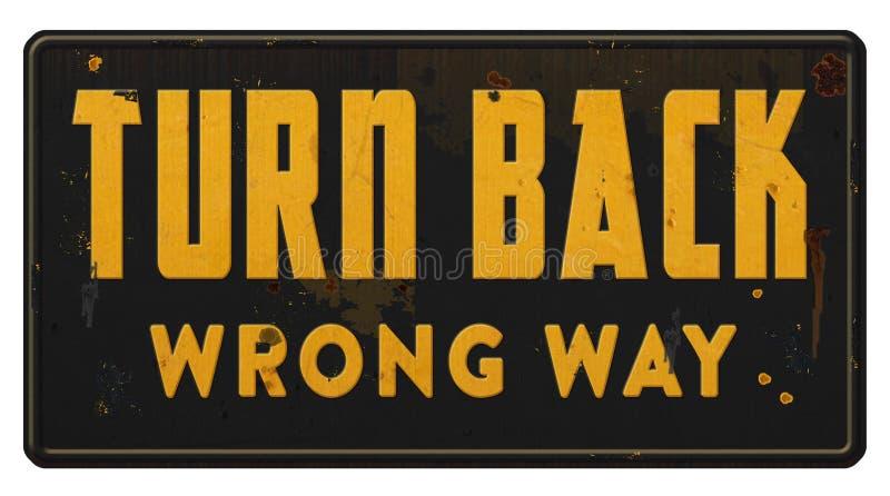 La voie fausse de mal de manière tournent de retour le grunge de signe image libre de droits