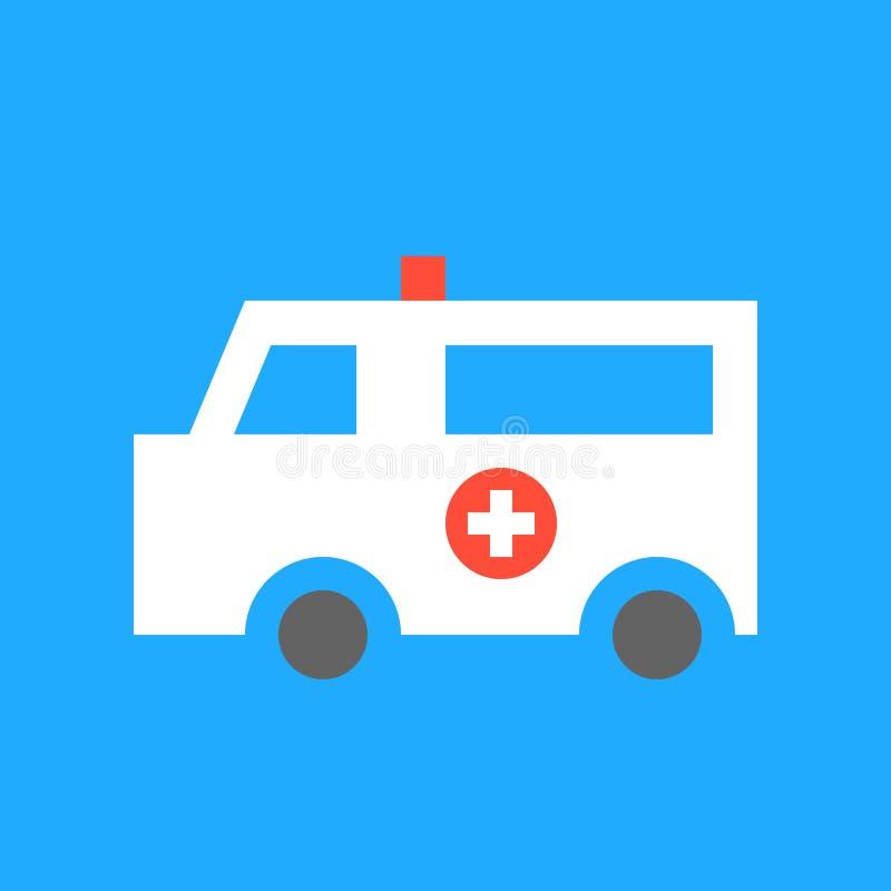 La voiture d'ambulance, médical et l'hôpital ont rapporté l'ensemble plat d'icône de conception illustration libre de droits