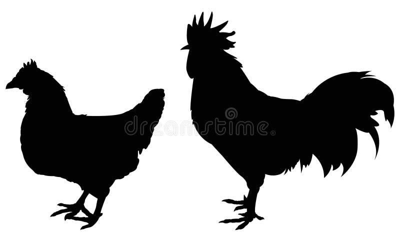 La volaille silhouettent illustration libre de droits