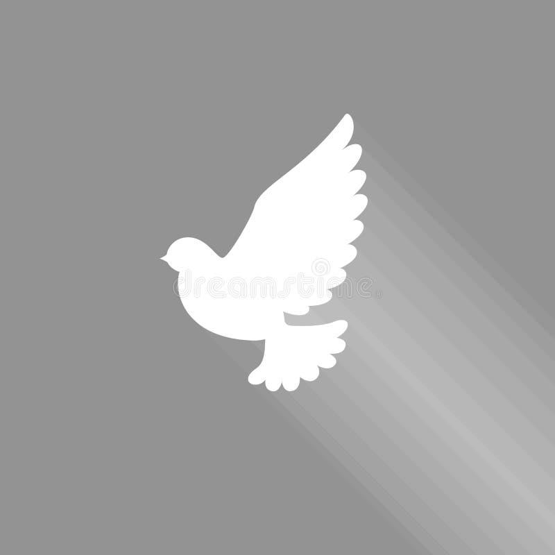 La volata si è tuffata con ombra per l'icona del segno di pace e di Spirito Santo illustrazione di stock