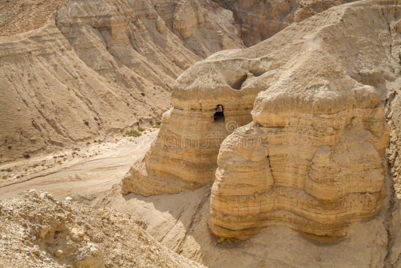 La voluta de Qumran excava cerca del mar muerto, Israel fotografía de archivo libre de regalías