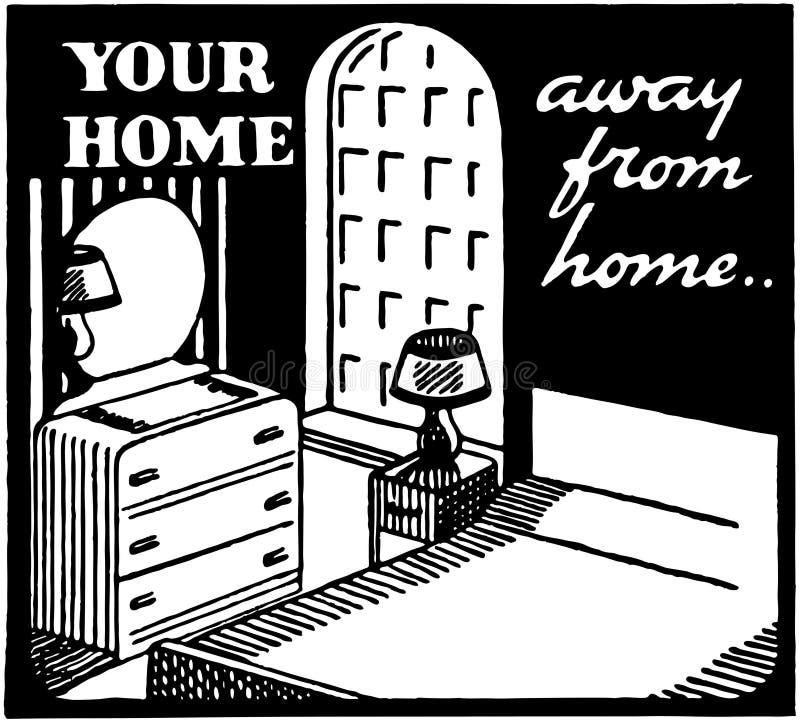 La vostra casa fuori casa royalty illustrazione gratis