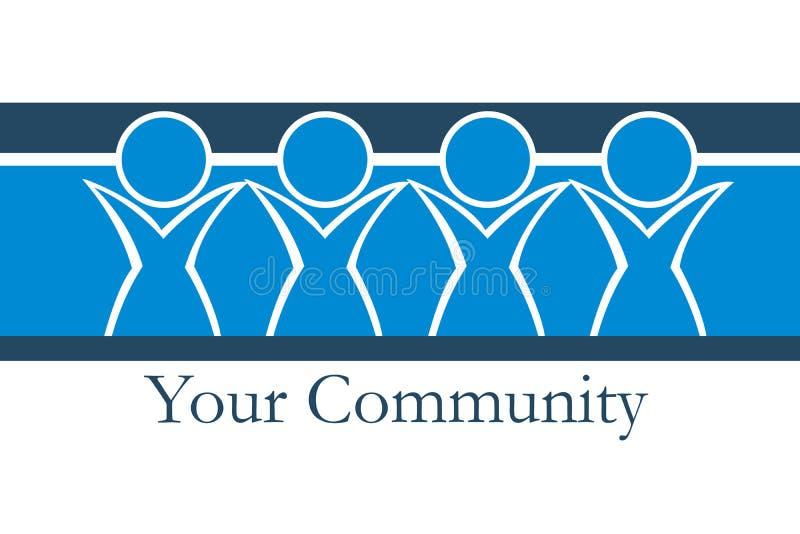 La vostra comunità illustrazione vettoriale