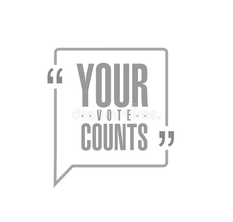 La vostra linea concetto di conteggi di voto del messaggio di citazione illustrazione vettoriale