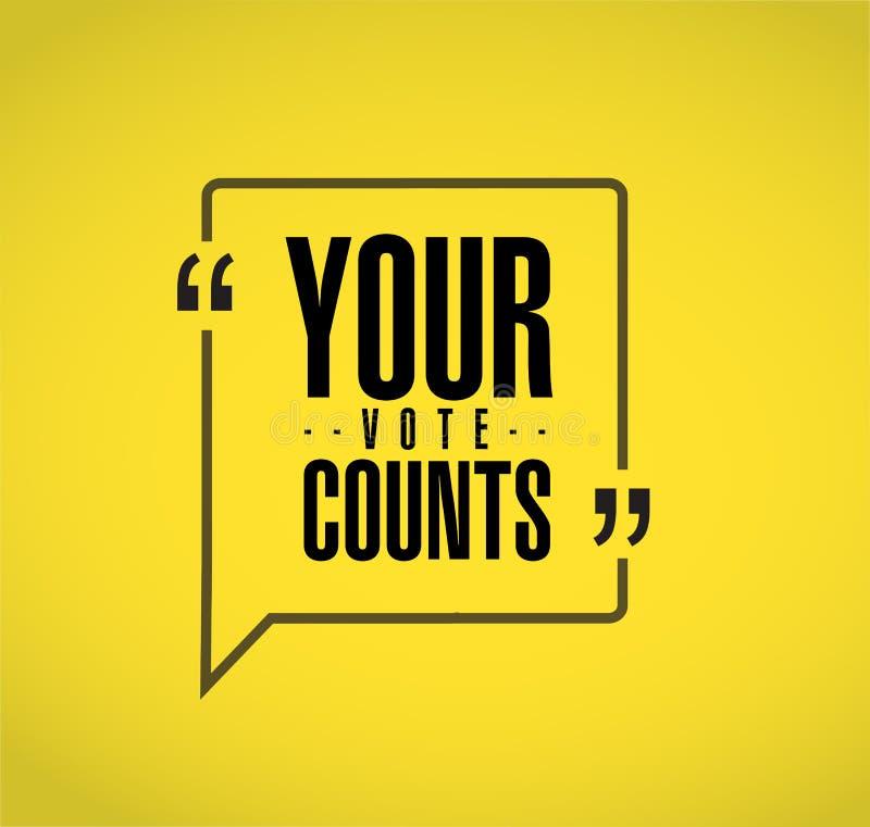 La vostra linea concetto di conteggi di voto del messaggio di citazione royalty illustrazione gratis