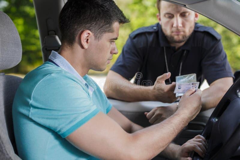 La vostra patente di guida, per favore immagini stock libere da diritti