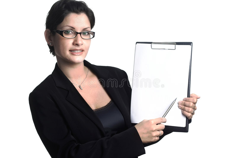 La vostra segretaria - isolata fotografia stock libera da diritti