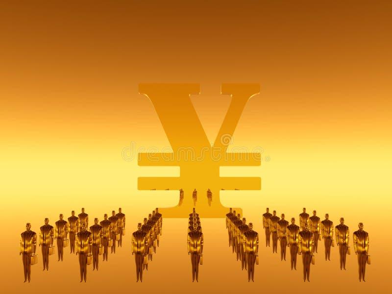 La vostra squadra finanziaria del lavoro, Yen royalty illustrazione gratis