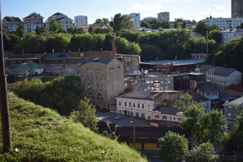 La vue à de vieux bâtiments photo libre de droits