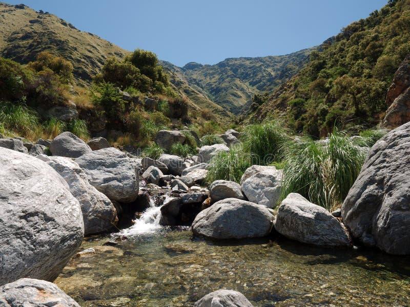 La vue à la rivière de Pasos Malos Merlo, San Luis, Argentine image stock