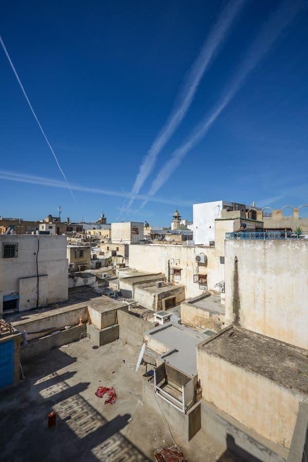 La vue aérienne de la ville historique de Tunis images stock