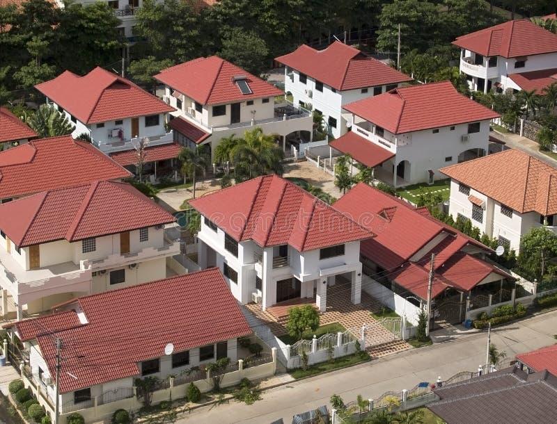 La vue aérienne de résidentiel sont photos libres de droits