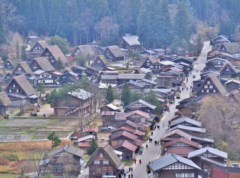 La vue aérienne de Shirakawa-vont, le Japon images stock