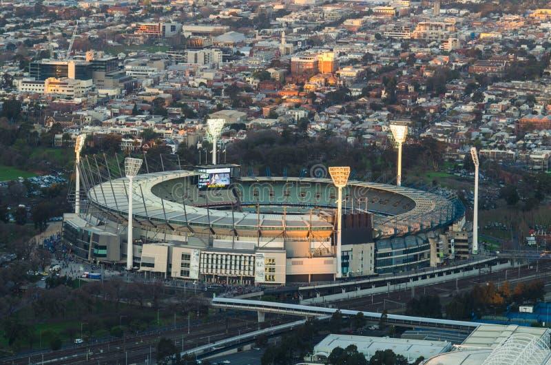 La vue aérienne du cricket de Melbourne a rectifié dans l'Australie photos stock
