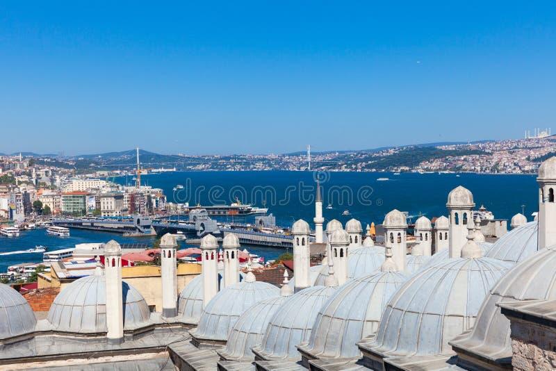 La vue au-dessus du détroit de Bosphorus, Istanbul, Turquie images stock