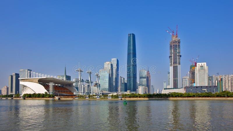 La vue d'horizon de la ville nouvelle de Zhujiang photo stock