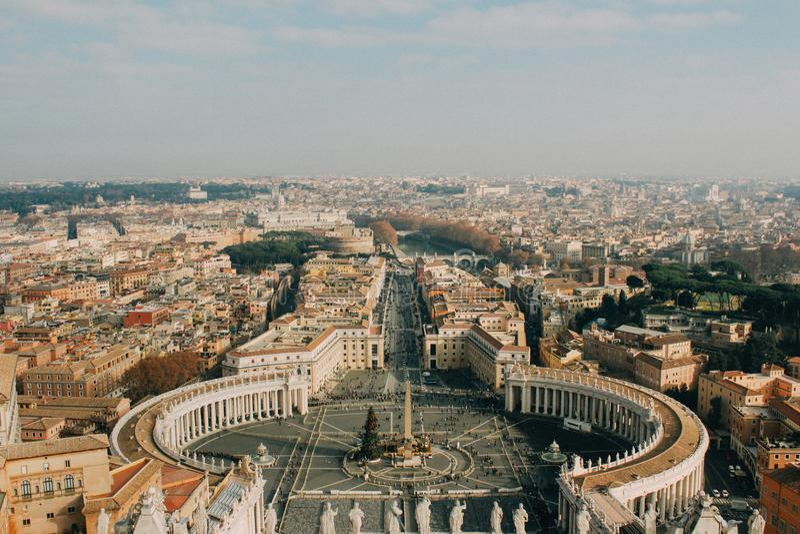 La vue d'oiseau à Vatican photos stock